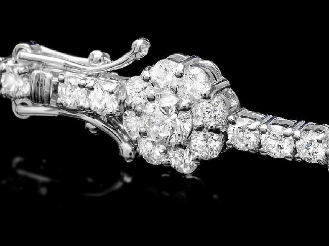 18k White Gold 8.20ct Diamond Bracelet - 3