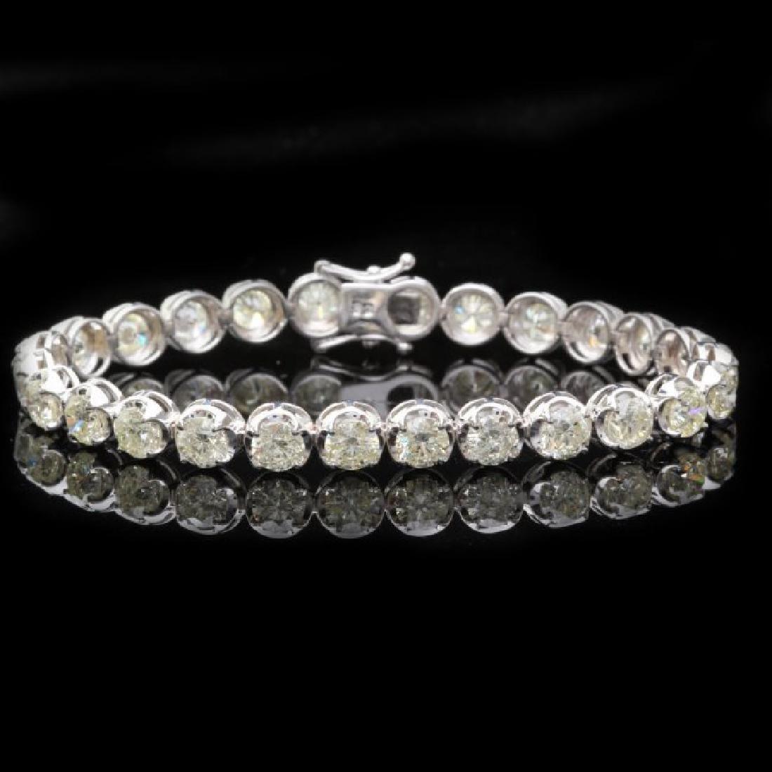 18k White Gold 14.50ct Diamond Bracelet