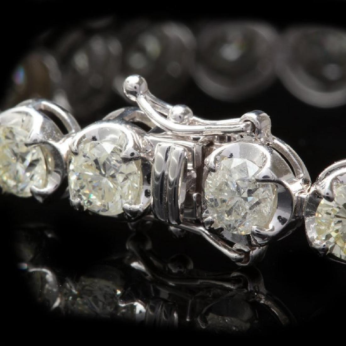 18k White Gold 14.50ct Diamond Bracelet - 2