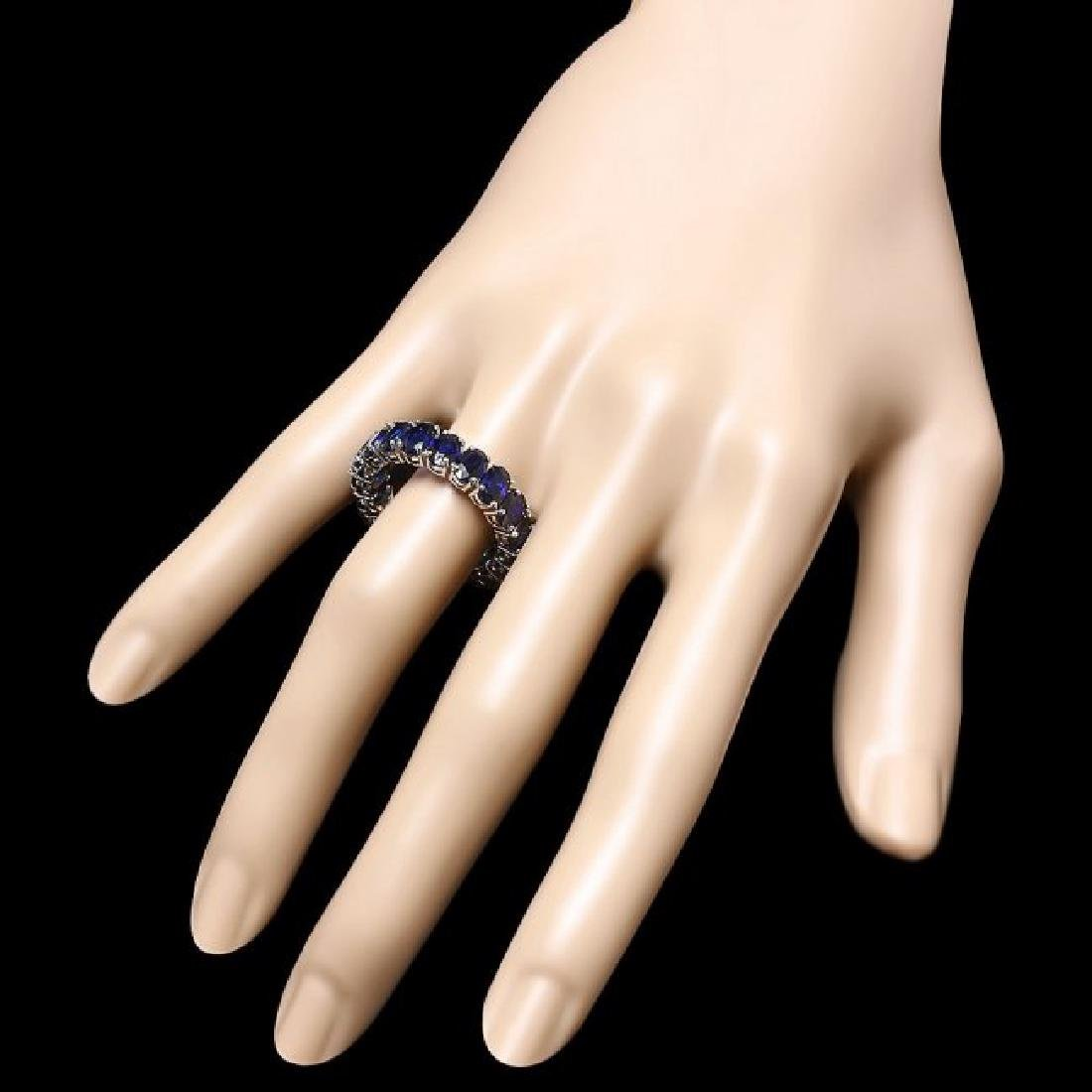 14k White Gold 9.00ct Sapphire Ring - 3