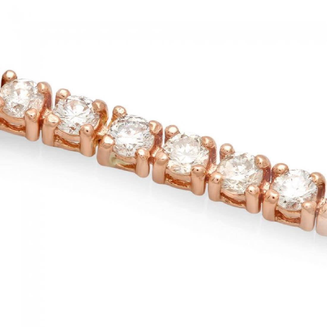 14k Rose Gold 3.60ct Diamond Bracelet - 3