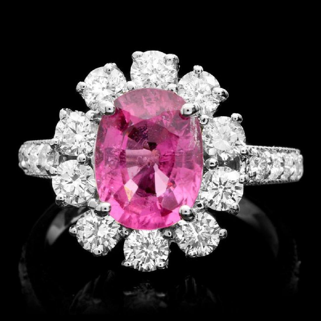 14k Gold 2.30ct Tourmaline 1.55ct Diamond Ring