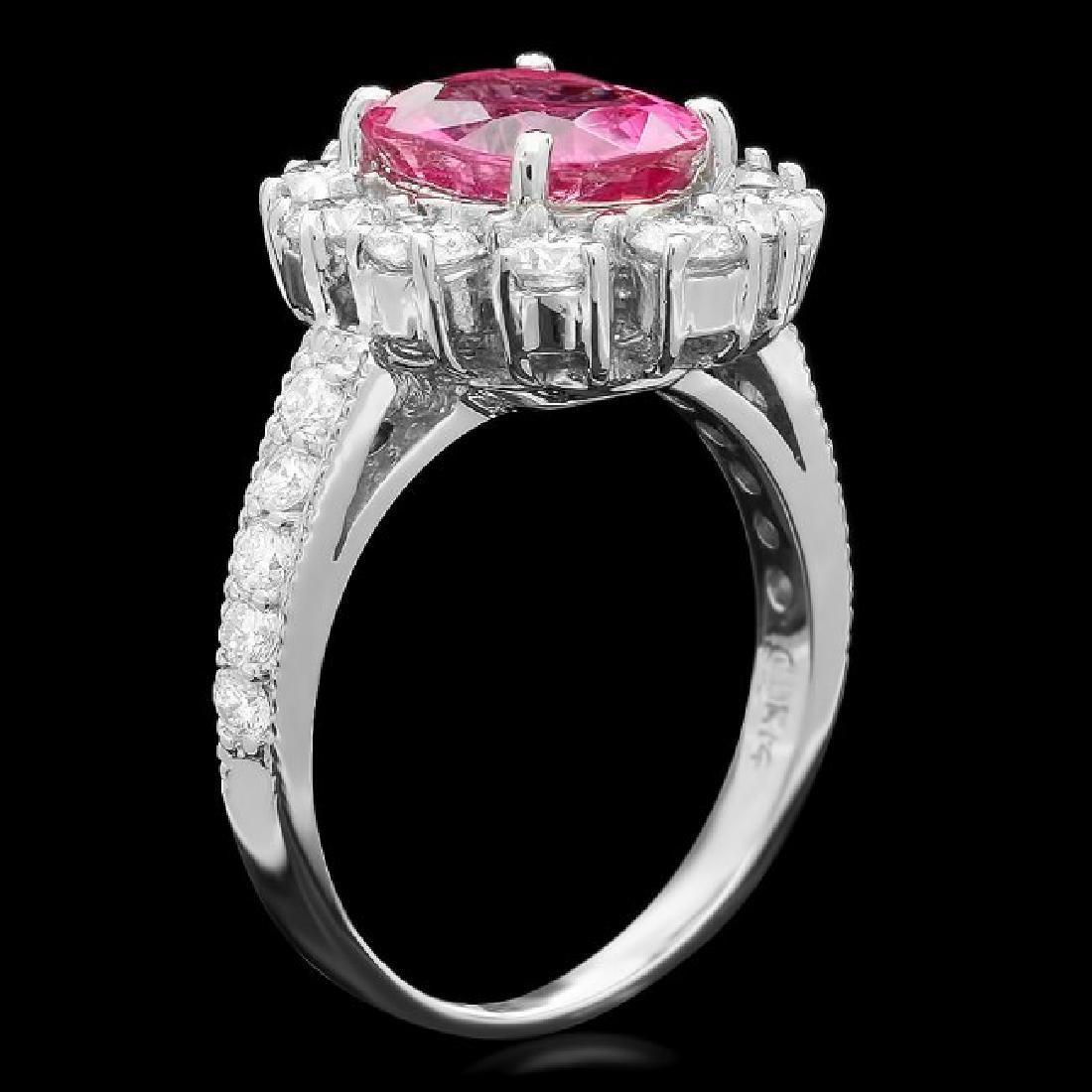 14k Gold 2.30ct Tourmaline 1.55ct Diamond Ring - 2