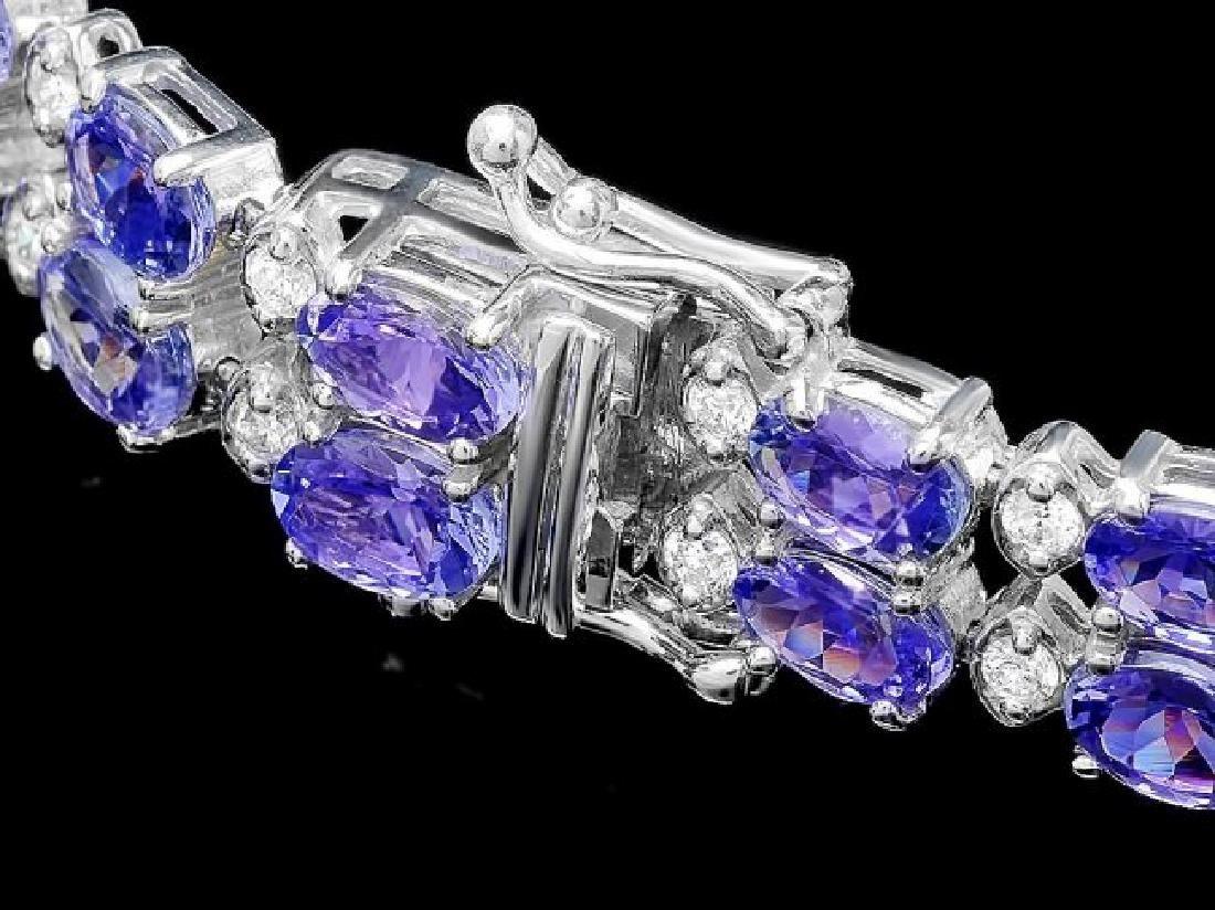 14k 20.00ct Tanzanite 1.30ct Diamond Bracelet - 3