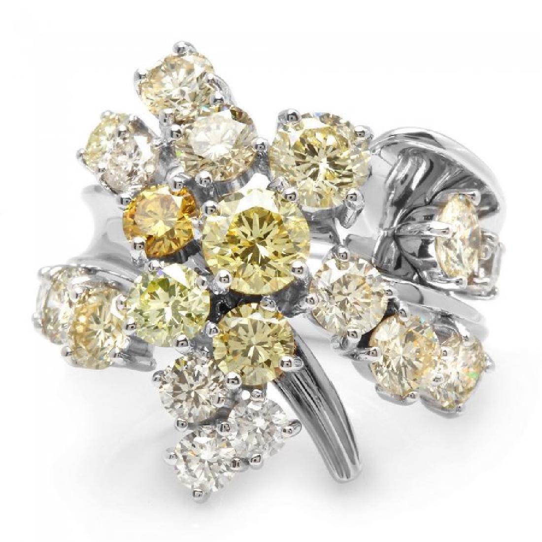 14k White Gold 5.00ct Diamond Ring - 2