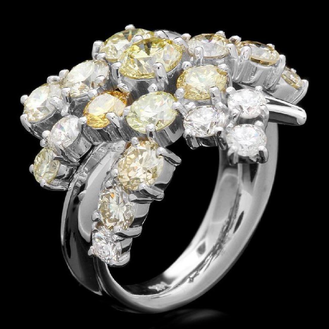 14k White Gold 5.00ct Diamond Ring - 3