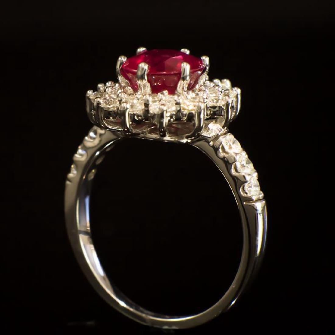 14K Gold 2.34ct Ruby 1.20ct Diamond Ring - 3