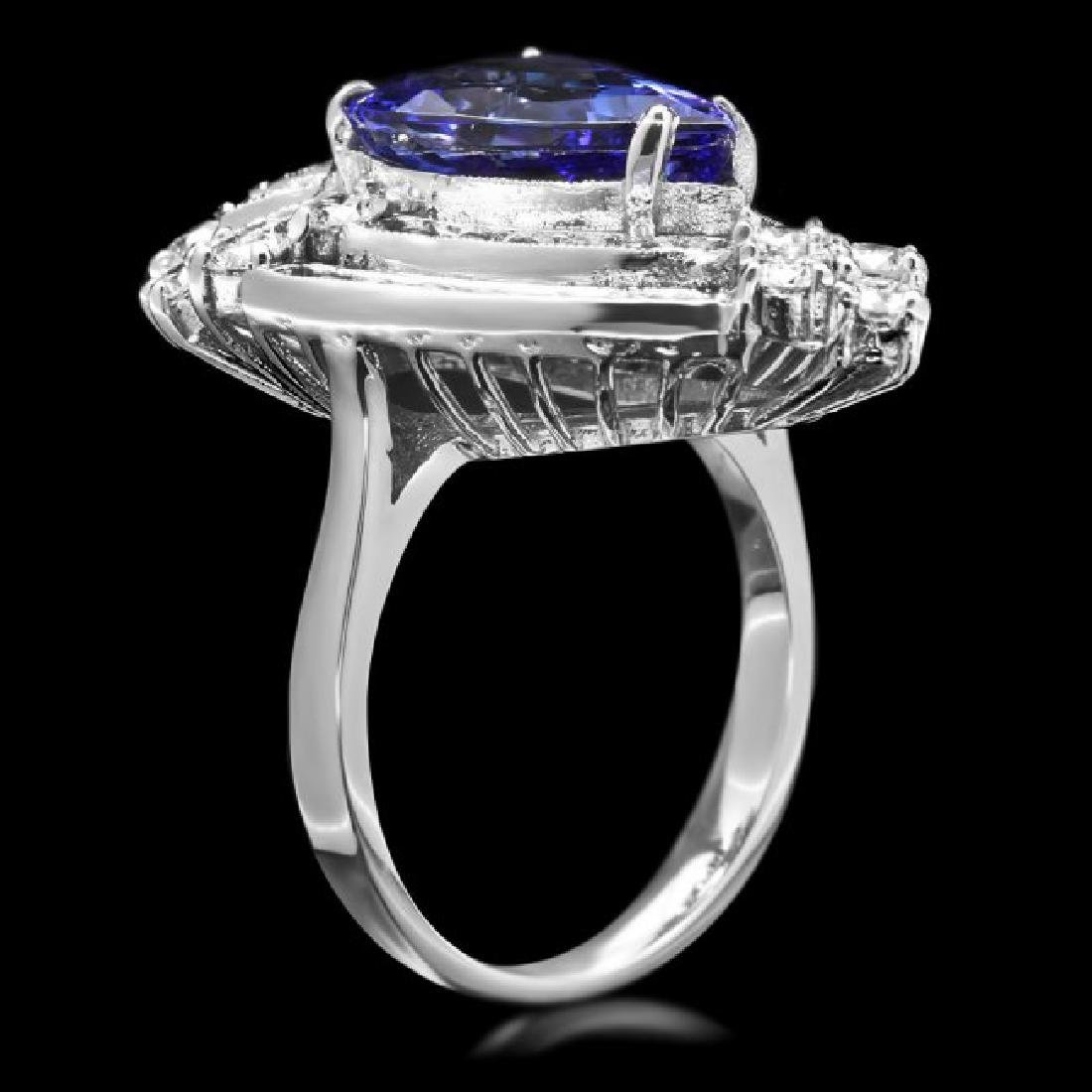 14k Gold 4.50ct Tanzanite 2.30ct Diamond Ring - 3