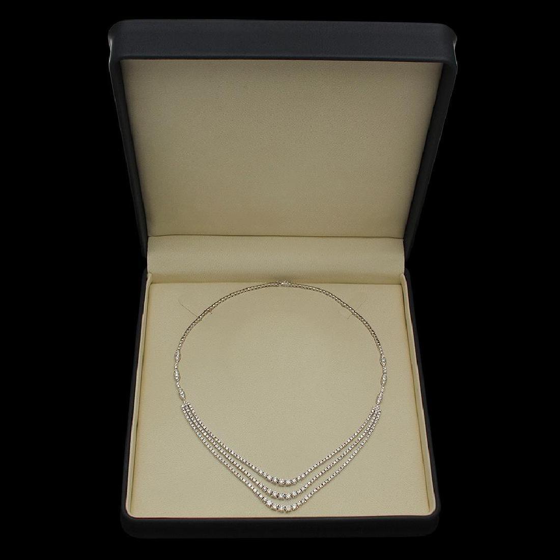 18K Gold 11.20ct Diamond Necklace - 4
