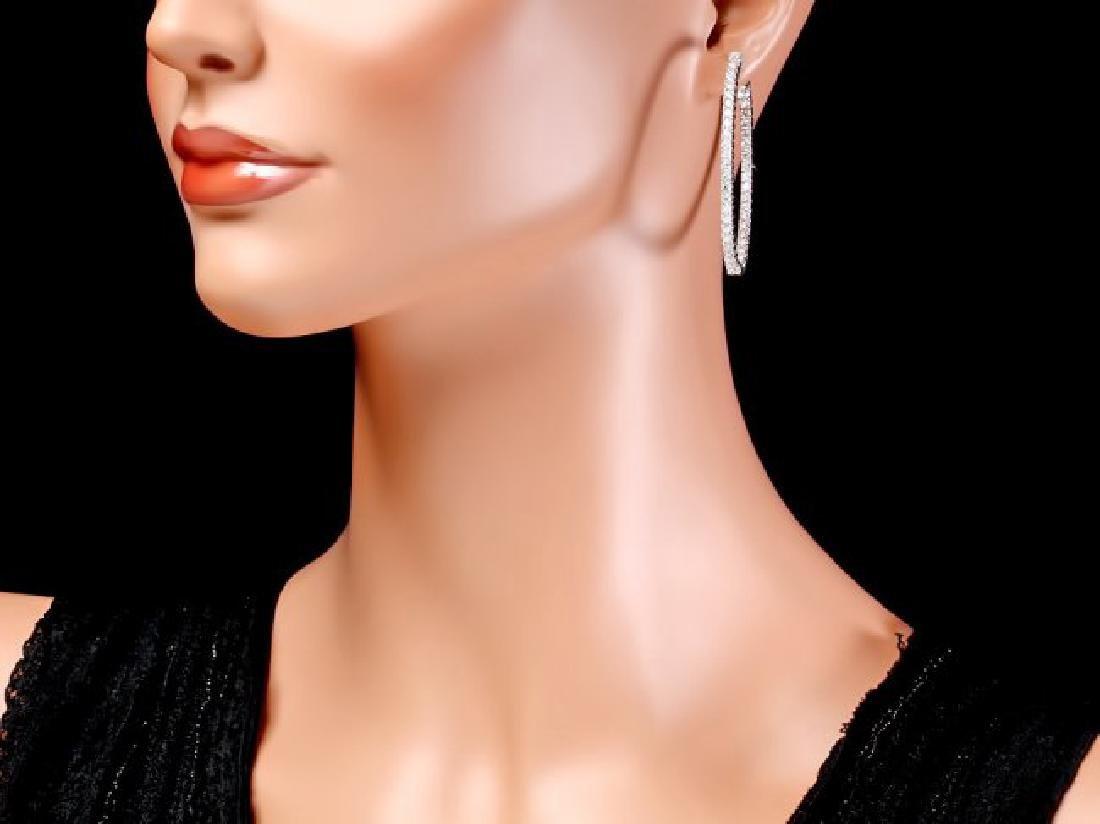 14k White Gold 5.20ct Diamond Earrings - 4