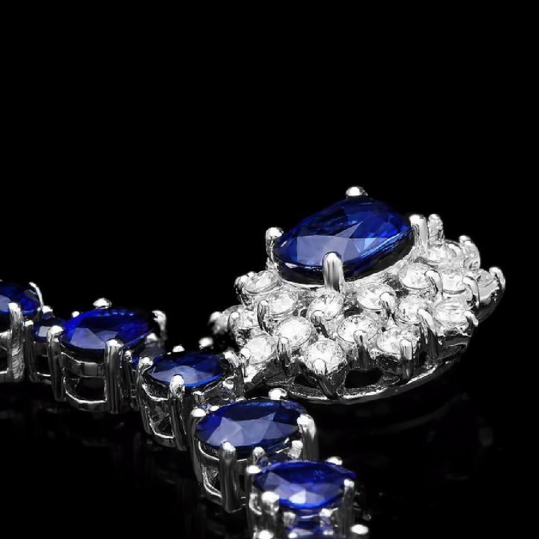 14k Gold 49.5ct Sapphire 1.70ct Diamond Necklace - 2