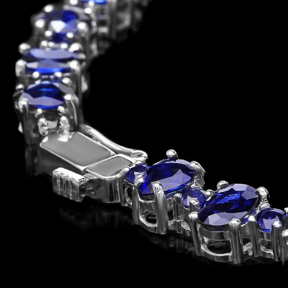 14k Gold 49.5ct Sapphire 1.70ct Diamond Necklace - 3