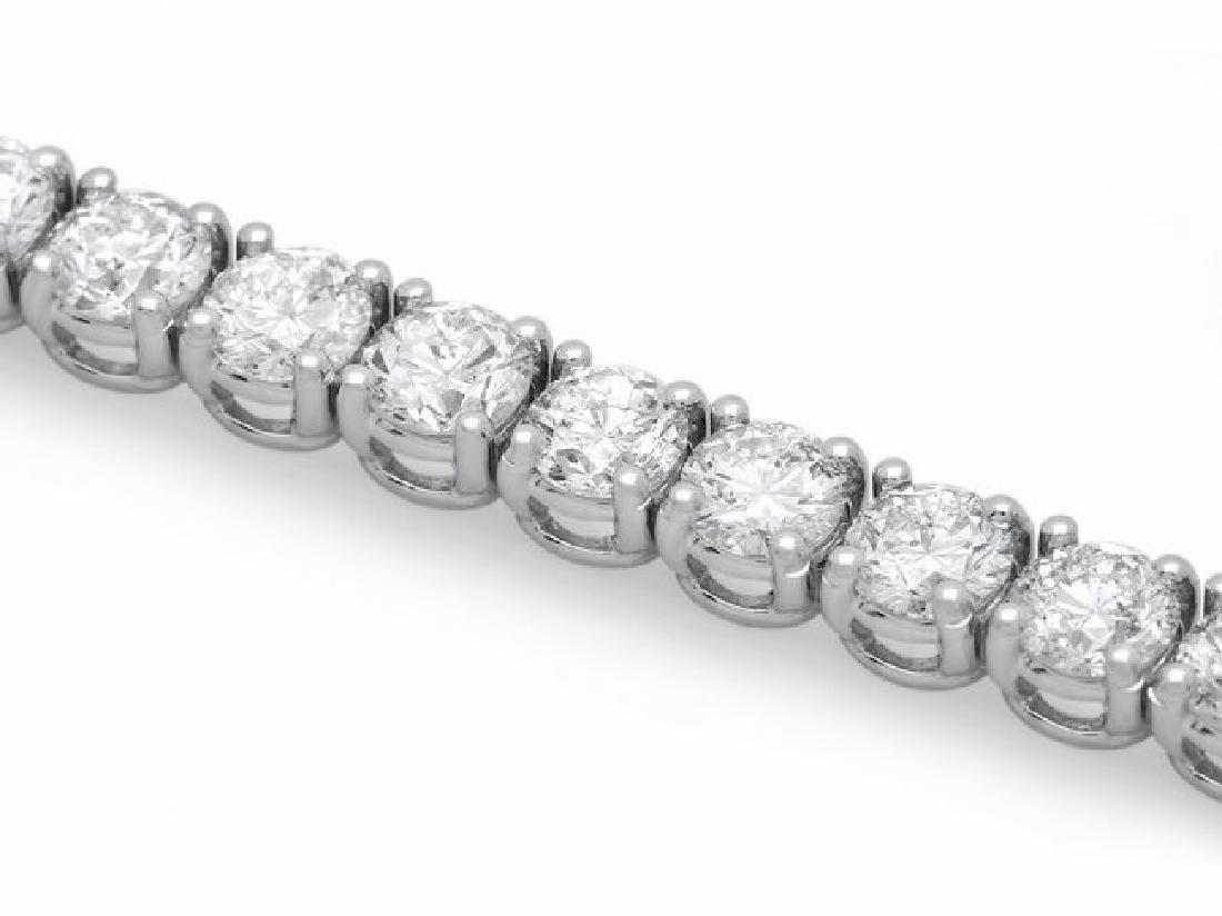 18k White Gold 11.50ct Diamond Bracelet - 3