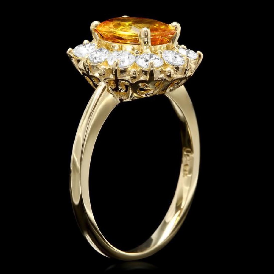 14k Gold 2.00ct Sapphire 1.00ct Diamond Ring - 2