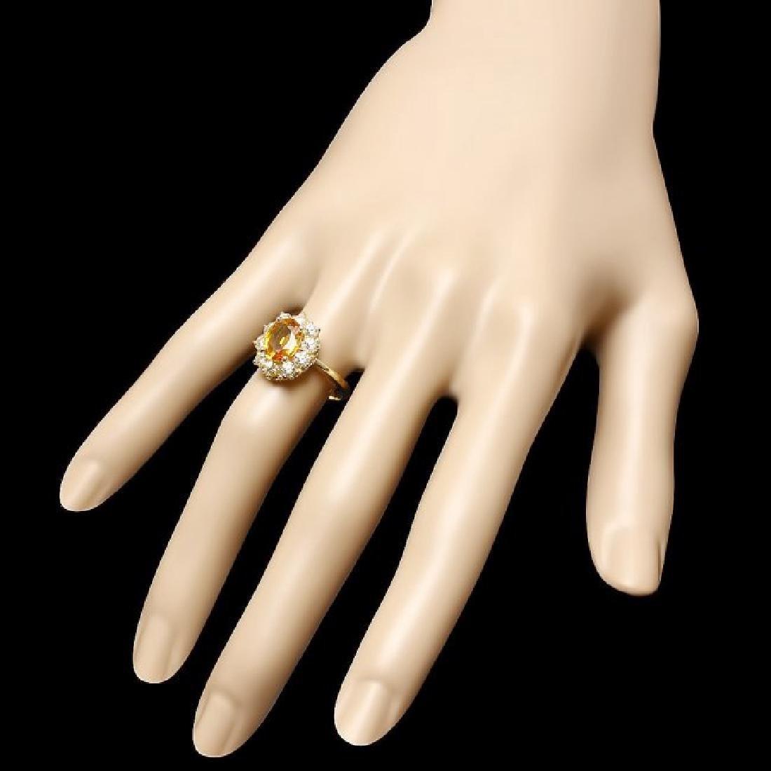14k Gold 2.00ct Sapphire 1.00ct Diamond Ring - 3