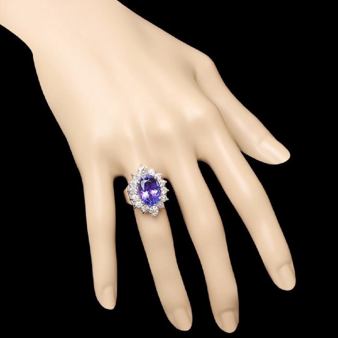 14k Gold 8.50ct Tanzanite 2.00ct Diamond Ring - 4