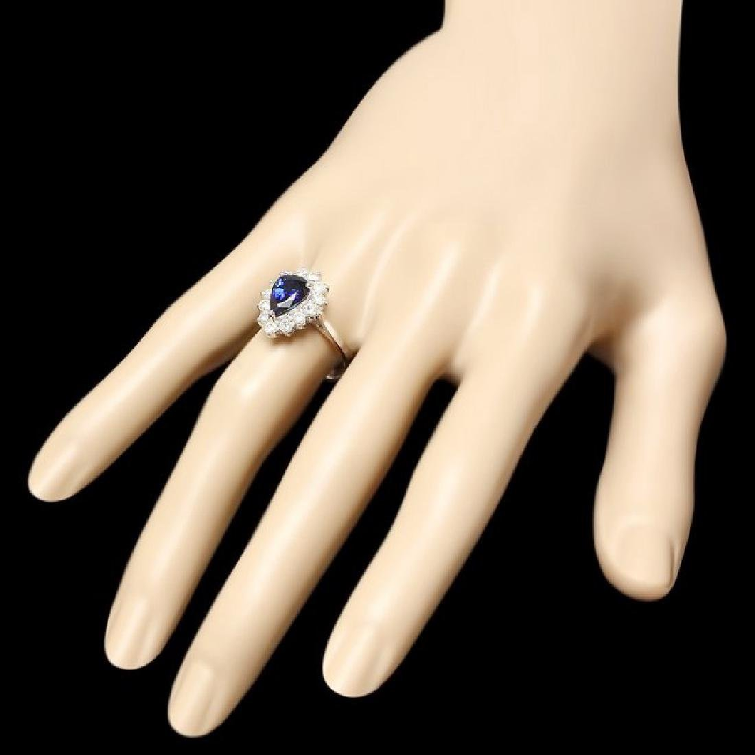 14k Gold 2.07ct Sapphire 0.75ct Diamond Ring - 3