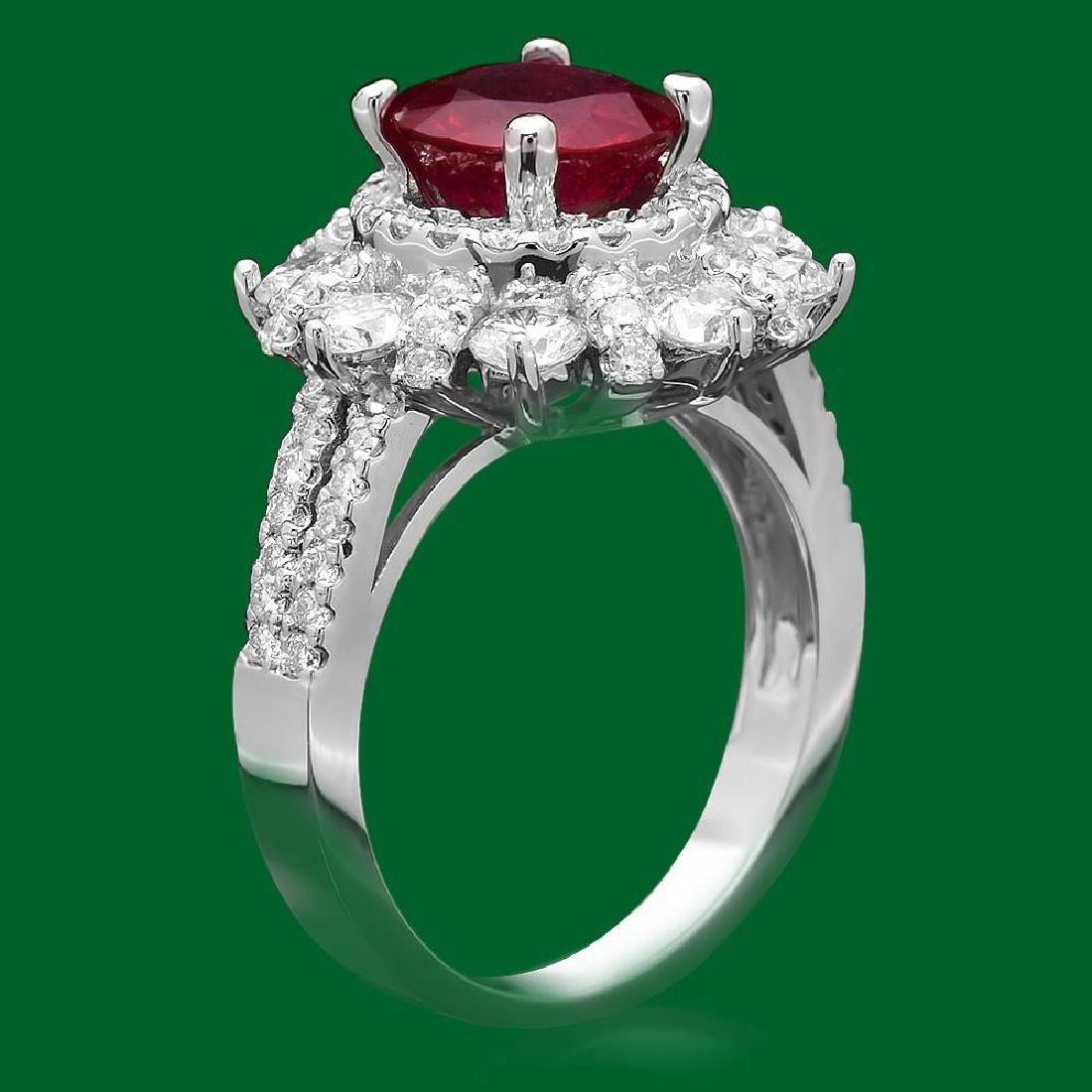 14k Gold 2.52ct Ruby 1.90ct Diamond Ring - 2