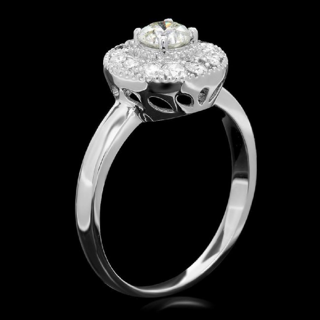 14k White Gold .75ct Diamond Ring - 2