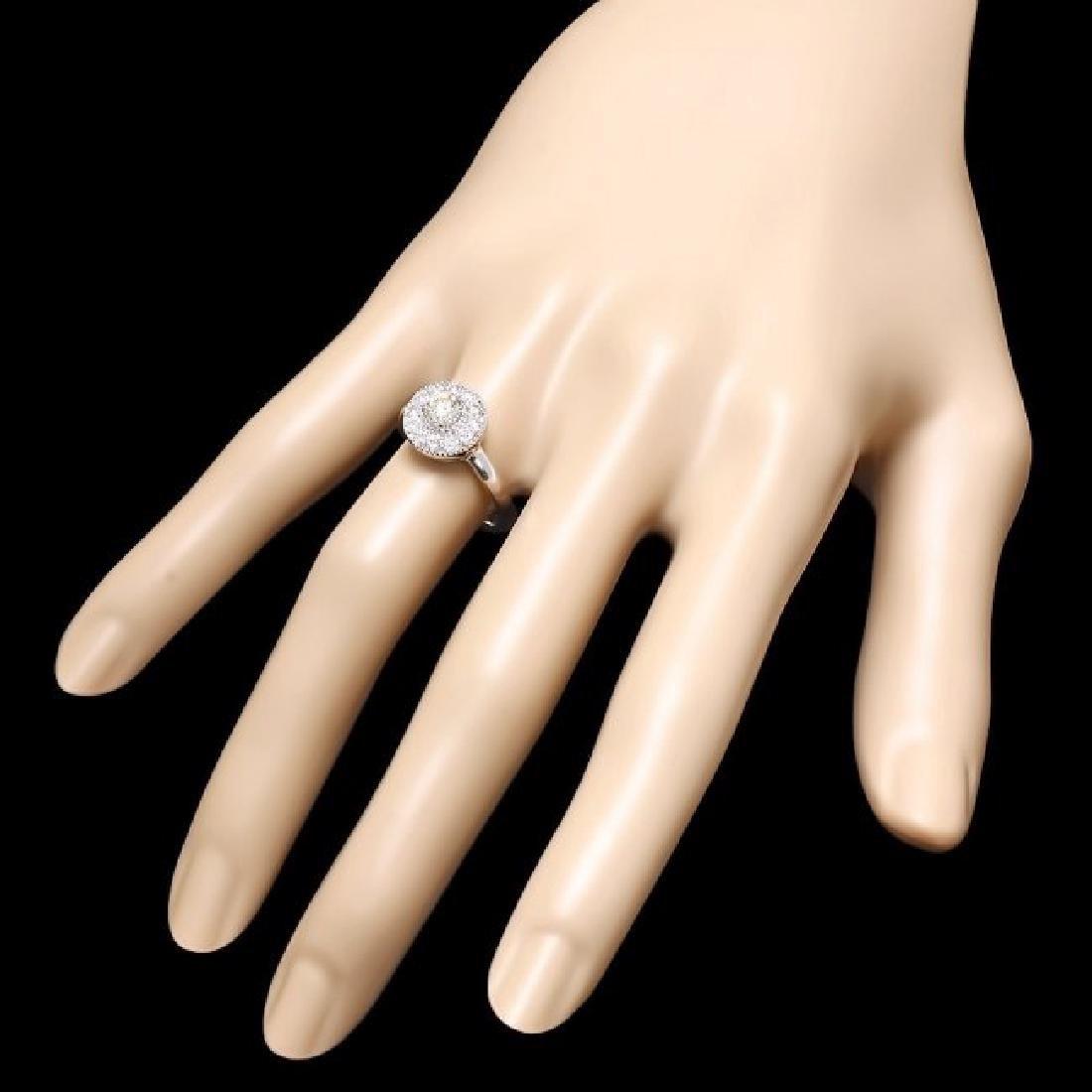 14k White Gold .75ct Diamond Ring - 3
