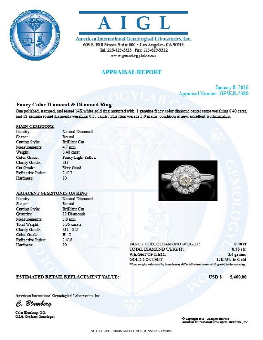 14k White Gold .75ct Diamond Ring - 4