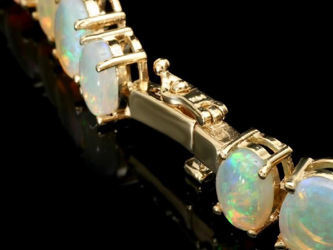 14k Yellow Gold 50.00ct Opal Necklace - 3
