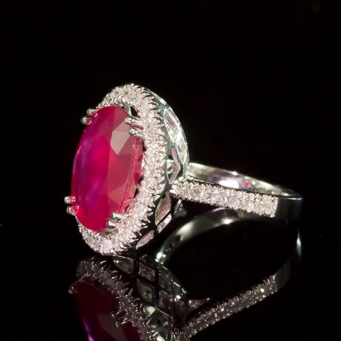 14k Gold 8.94ct Ruby 0.85ct Diamond Ring - 2