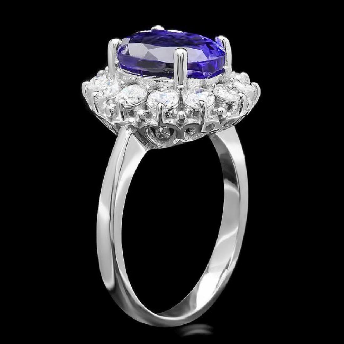 14k Gold 4.50ct Tanzanite 1.10ct Diamond Ring - 2