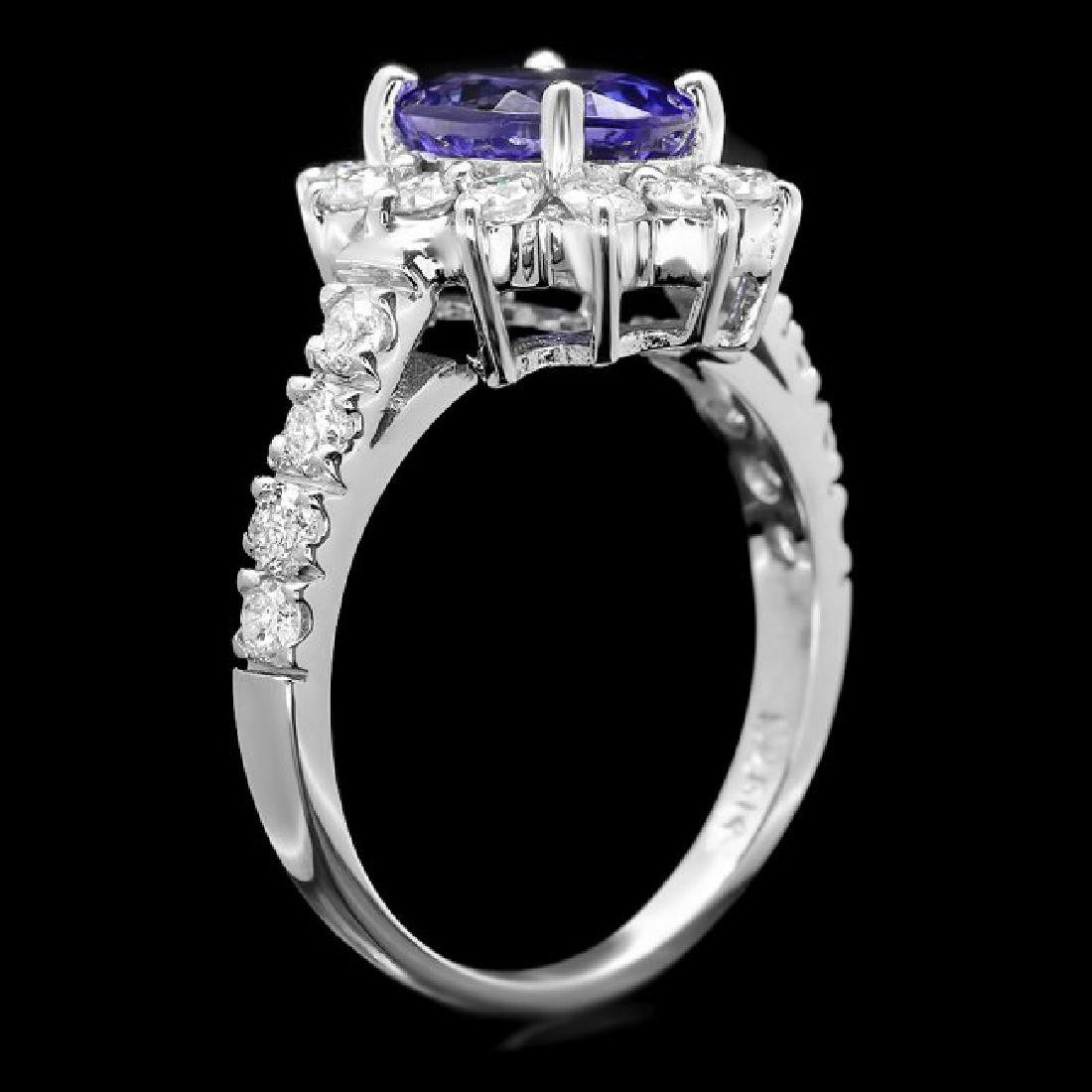 14k Gold 2.20ct Tanzanite 1.00ct Diamond Ring - 3