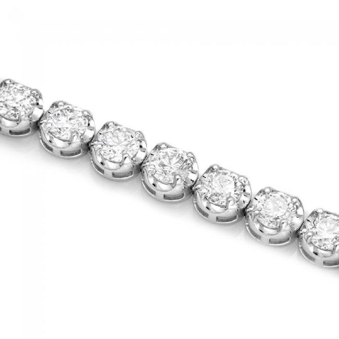 18k White Gold 9.50ct Diamond Tennis Bracelet - 3