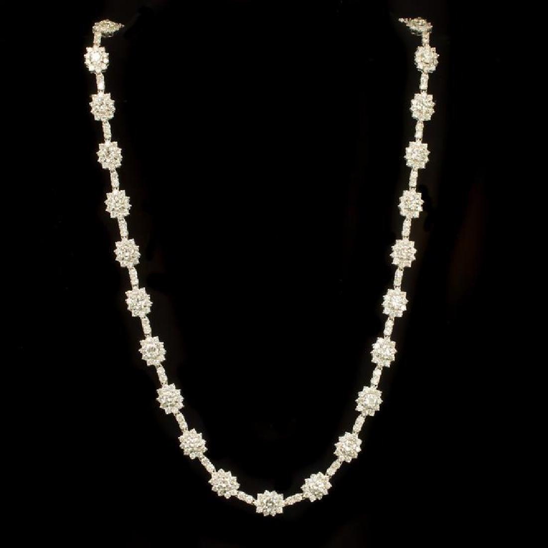 18K Gold 18.22ct Diamond Necklace - 2