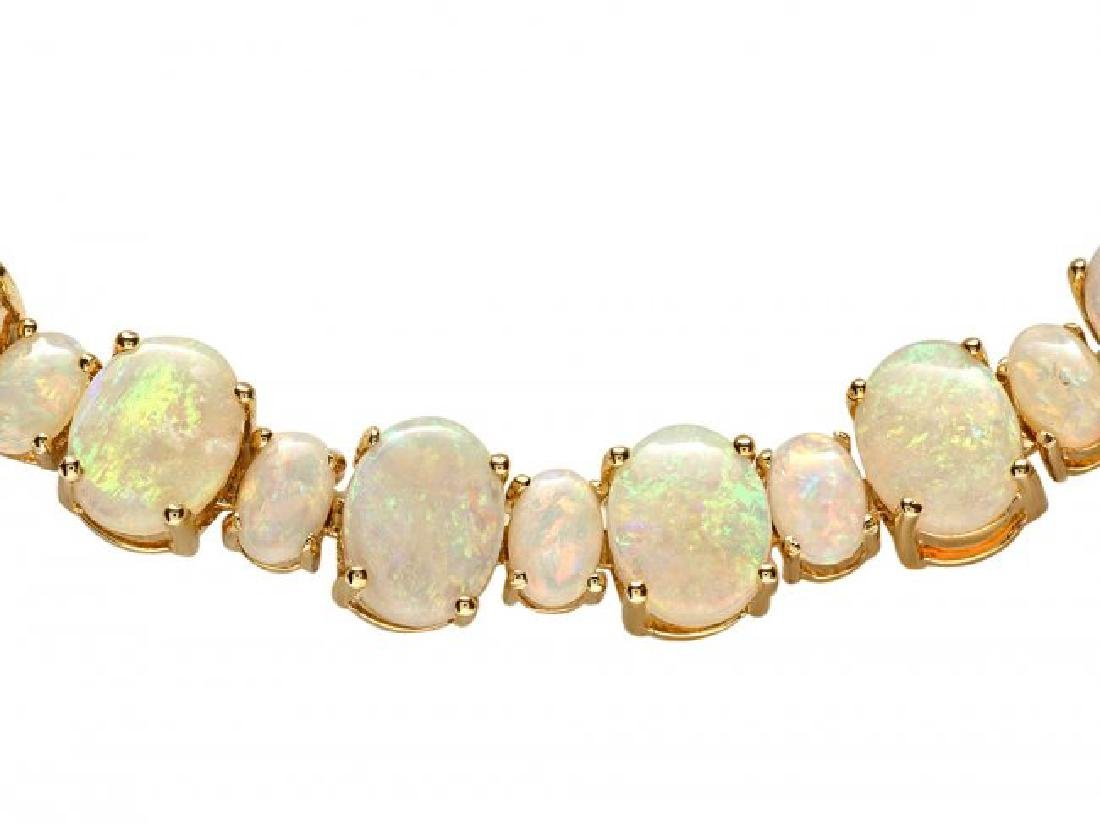 14k Yellow Gold 42.50ct Opal   Necklace - 2
