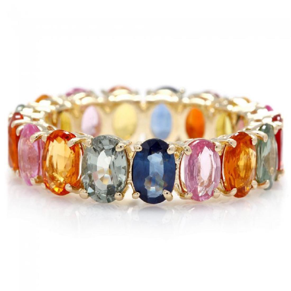14k Yellow Gold 9.00ct Sapphire Ring - 3