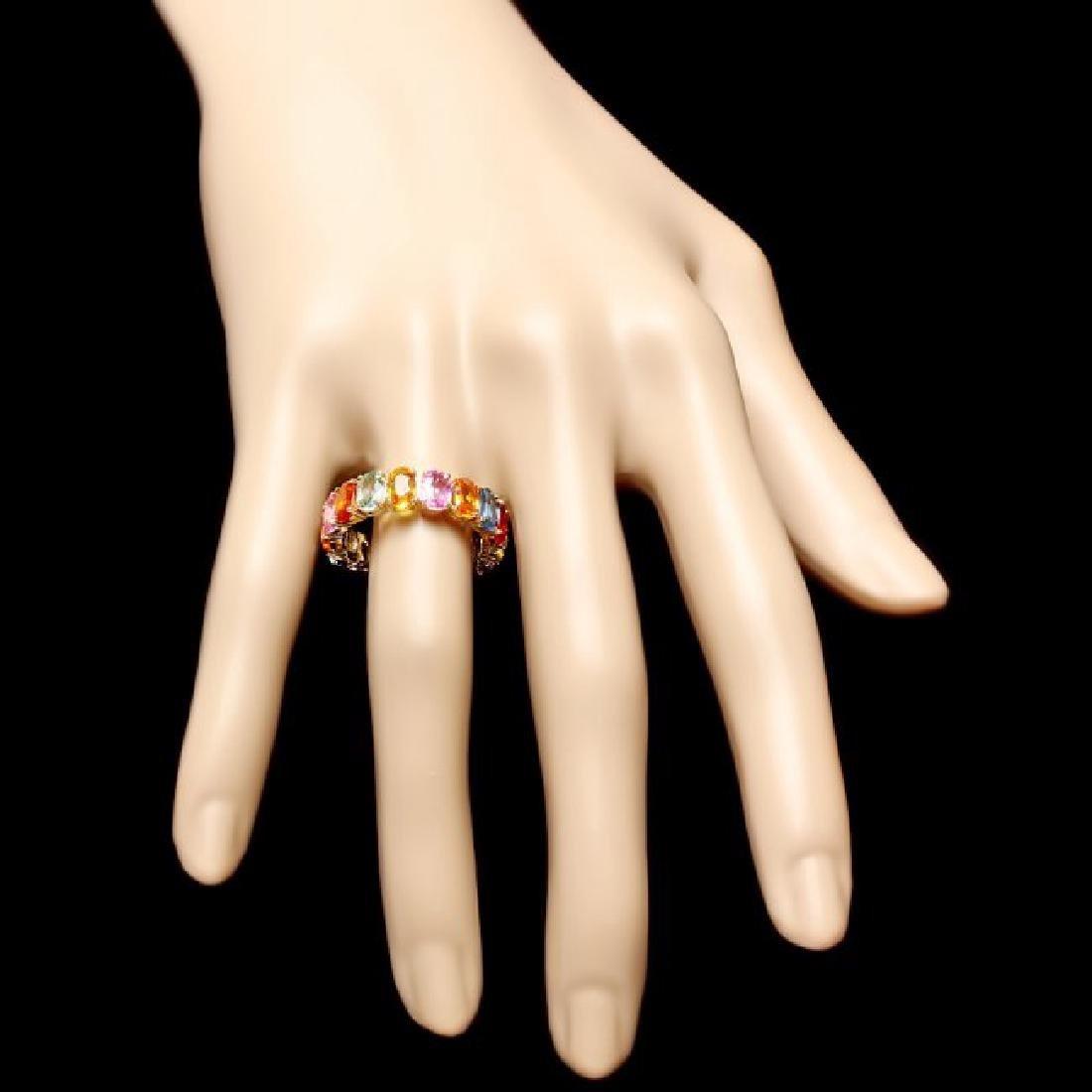 14k Yellow Gold 9.00ct Sapphire Ring - 4