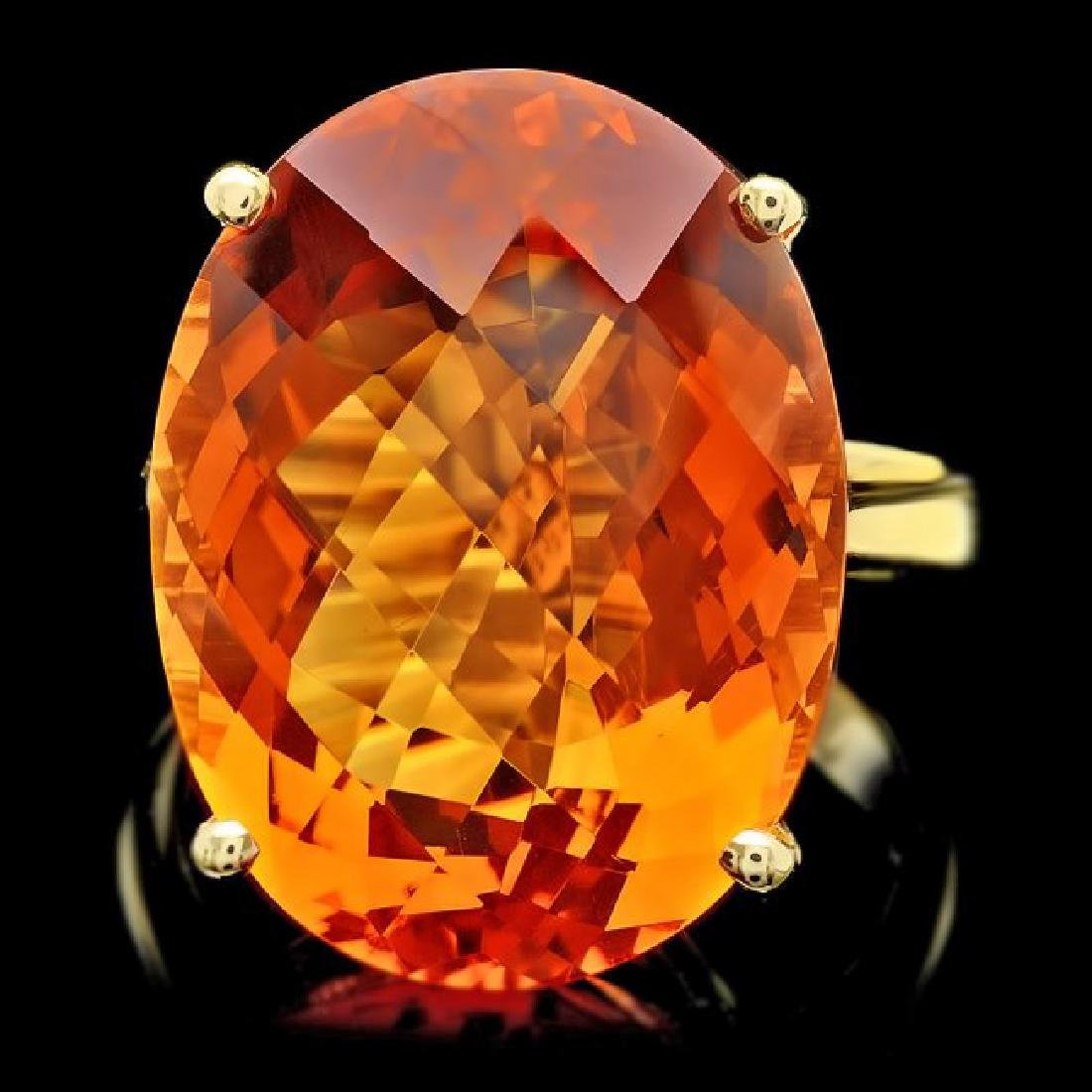 14k Yellow Gold 22.00ct Citrine Ring