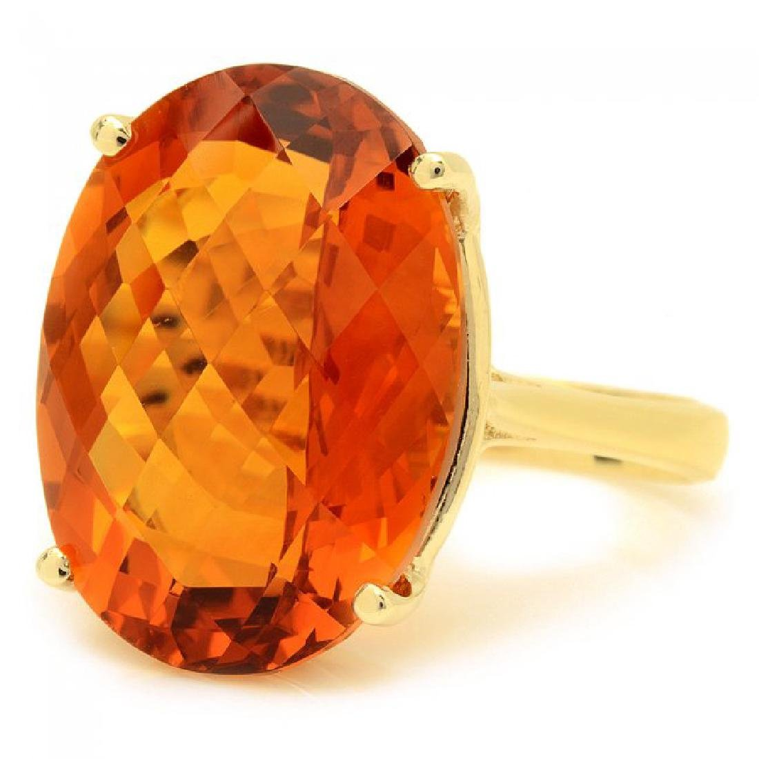 14k Yellow Gold 22.00ct Citrine Ring - 2