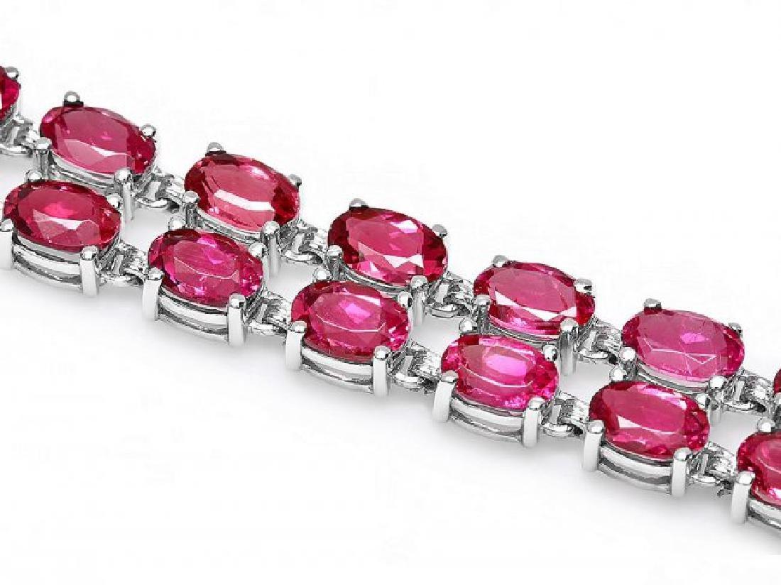 14k 21.2ct Tourmaline 0.40ct Diamond Bracelet - 2
