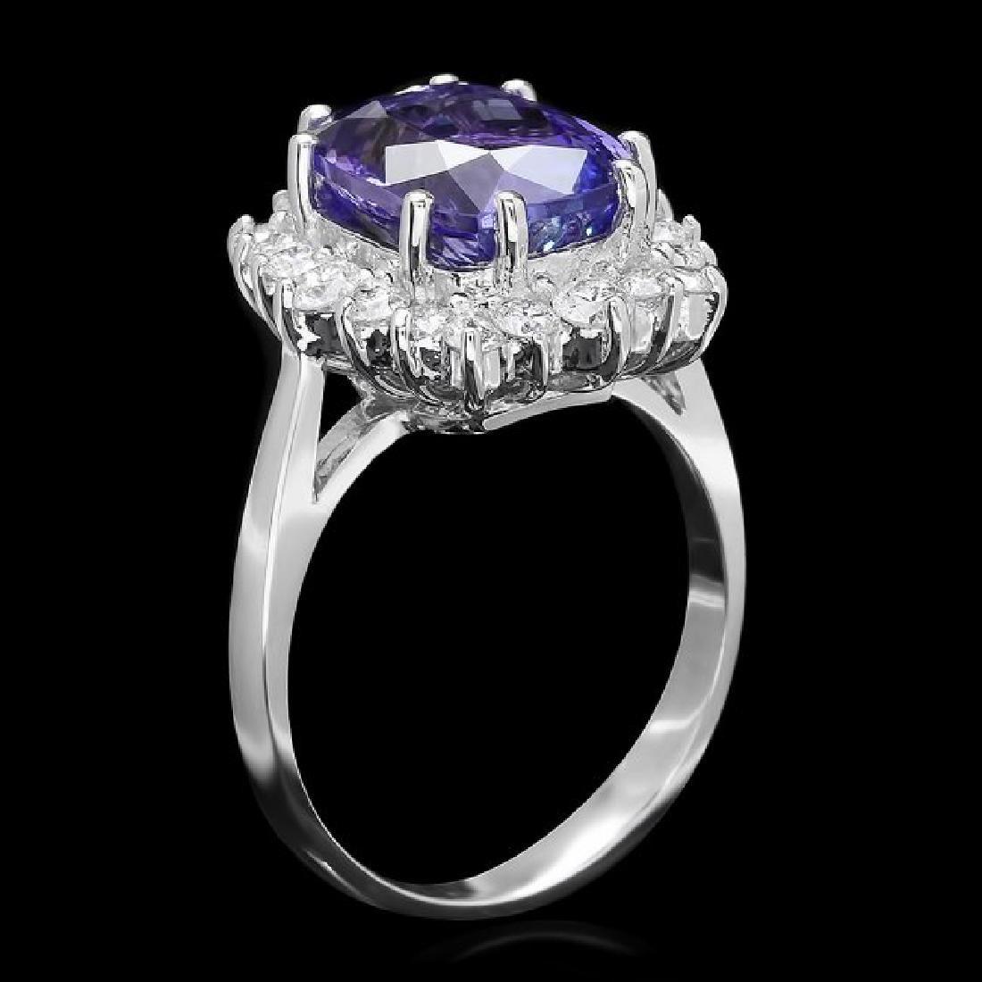 14k Gold 5.0ct Tanzanite 0.85ct Diamond Ring - 2