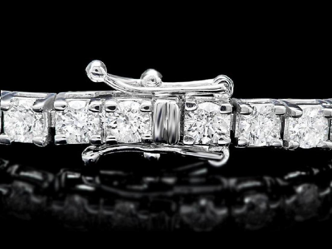 18k White Gold 6.50ct Diamond Bracelet - 2
