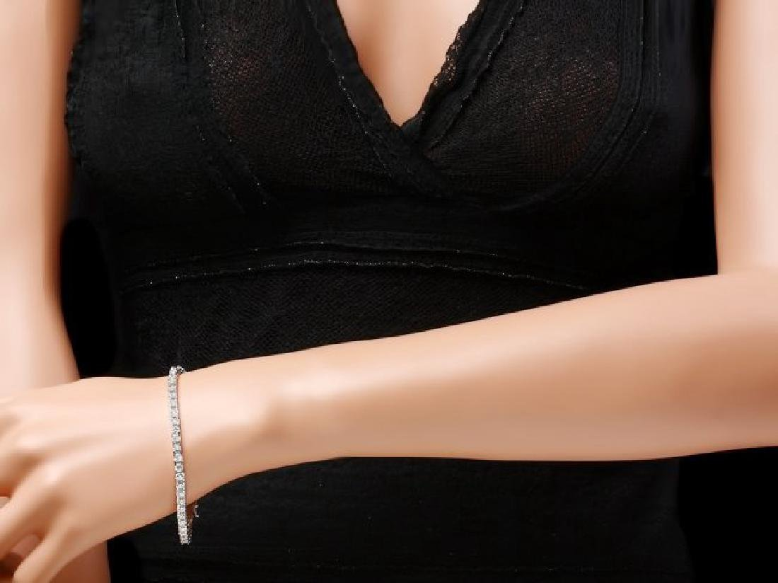 18k White Gold 6.50ct Diamond Bracelet - 5
