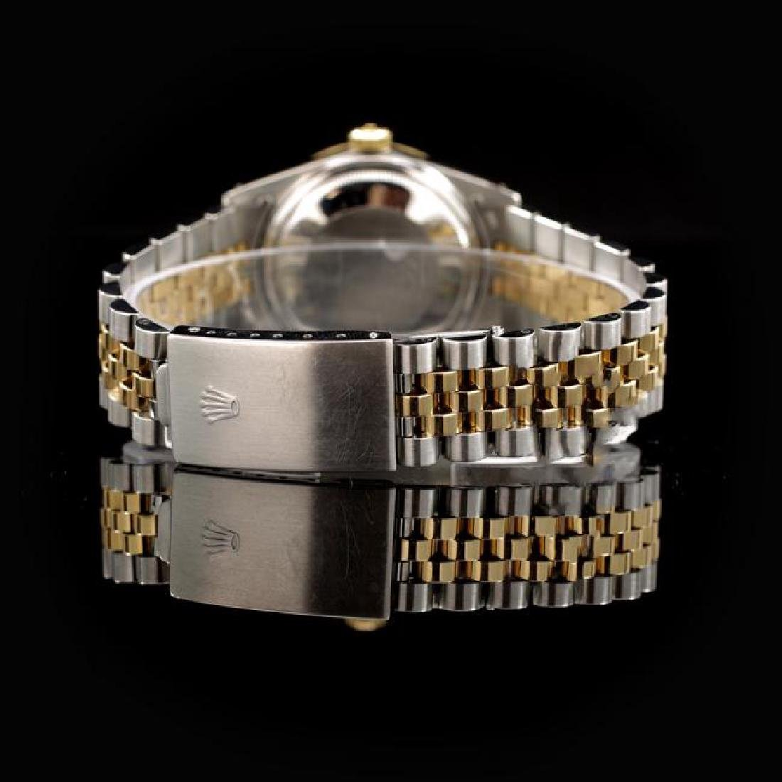 Rolex DateJust Two-Tone 36mm Custom Diamond Bezel Men's - 3