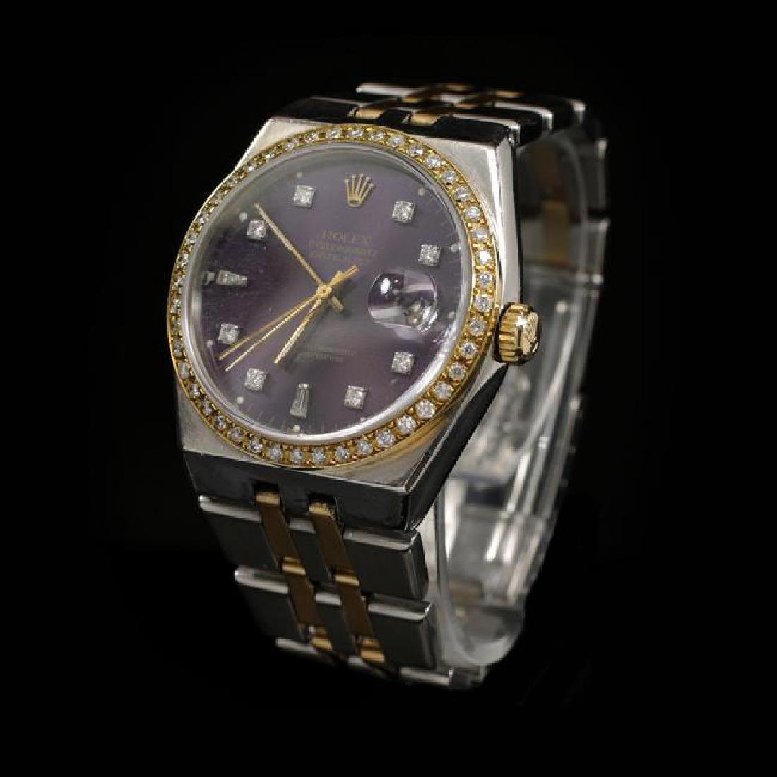 Rolex DateJust Two-Tone Quartz Model 36mm Custom - 2