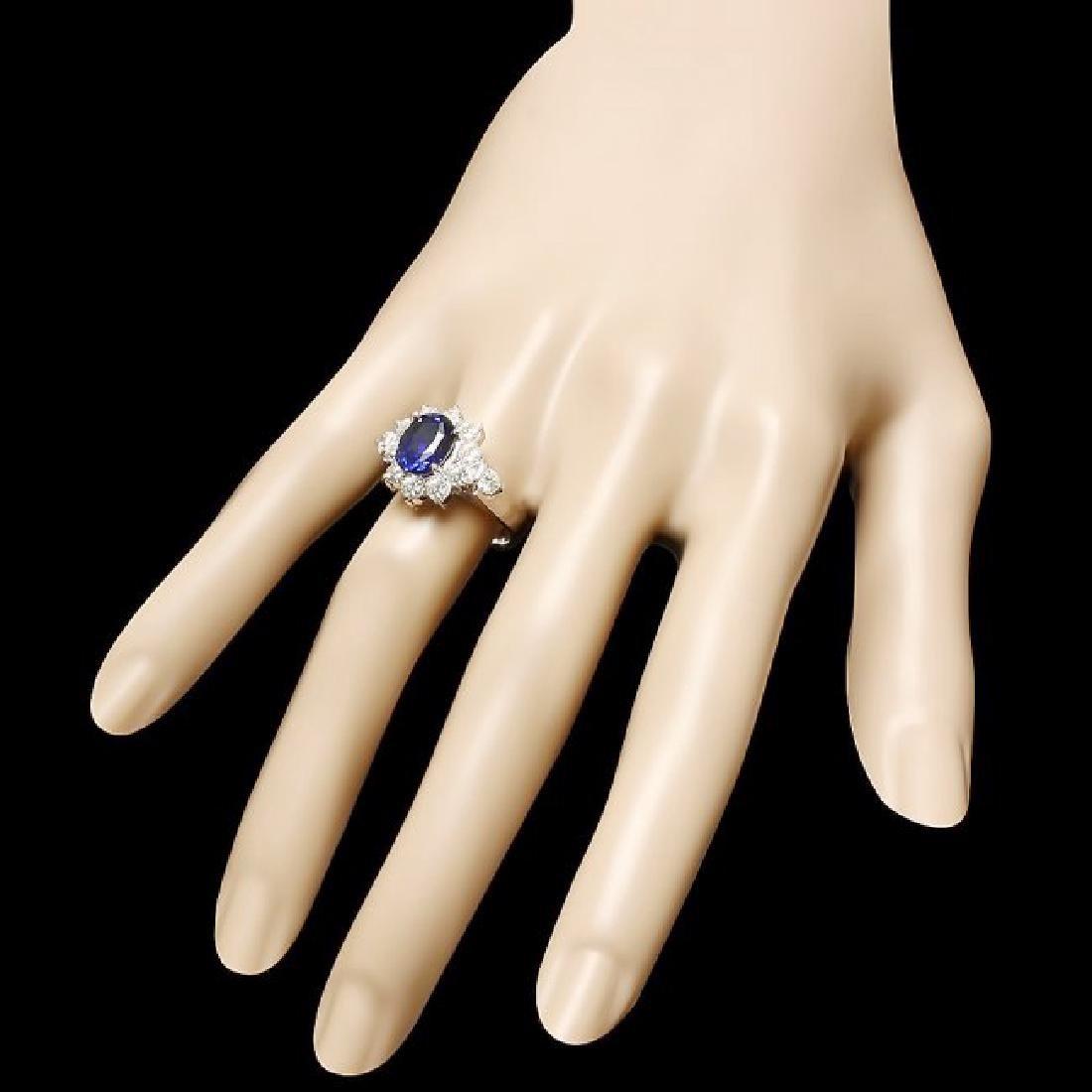 14k Gold 3.00ct Sapphire 1.30ct Diamond Ring - 3