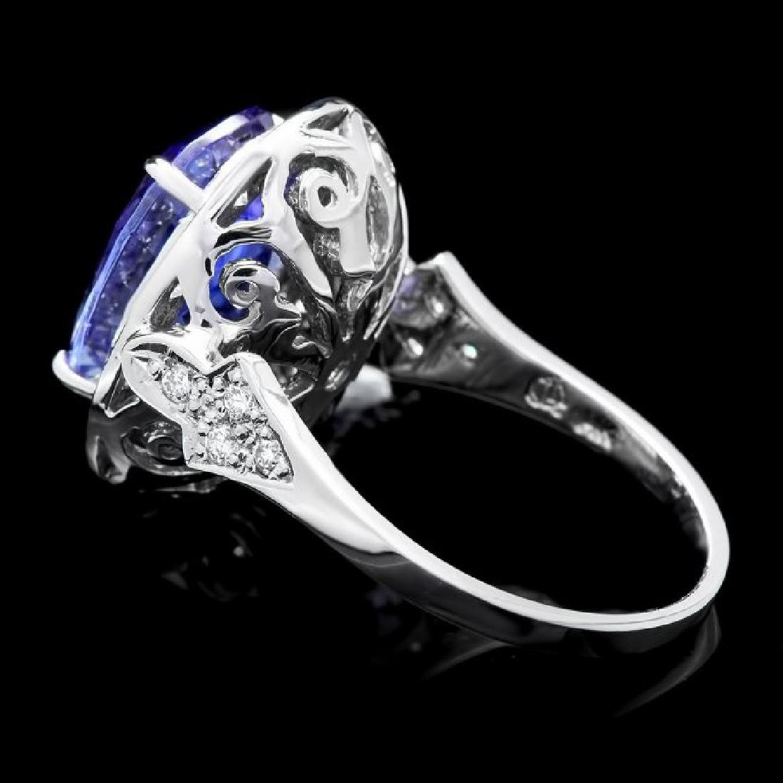 14k Gold 7.00ct Tanzanite 0.70ct Diamond Ring - 5