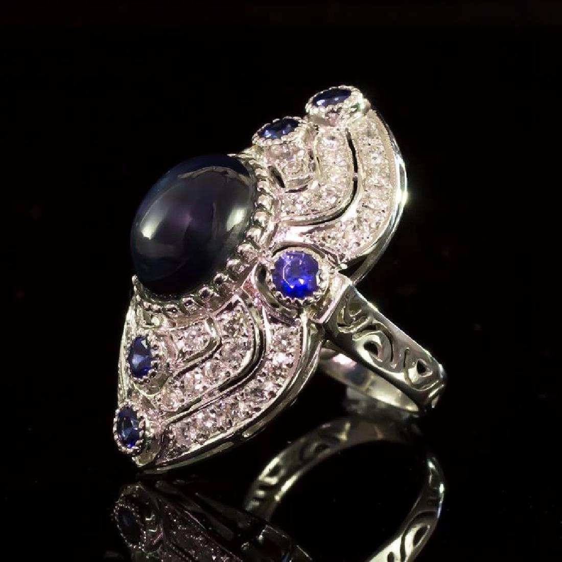 14K Gold 12.60ct Star Sapphire, 0.55ct Sapphire  1.41ct - 2