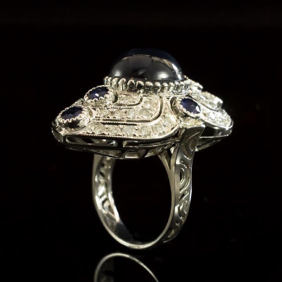 14K Gold 12.60ct Star Sapphire, 0.55ct Sapphire  1.41ct - 3
