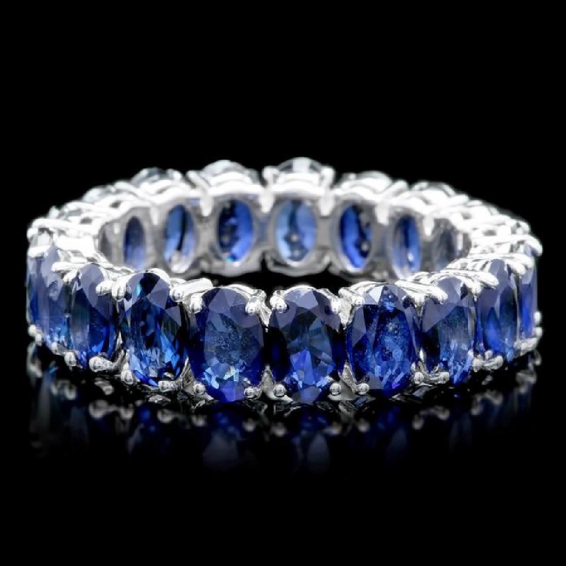 14k White Gold 9.00ct Sapphire Ring