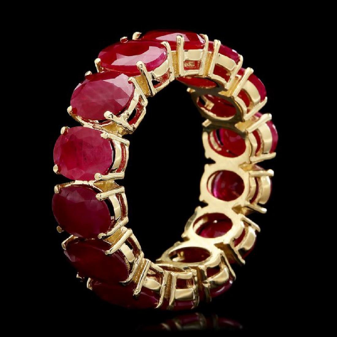 14k Yellow Gold 11.40ct Ruby Ring - 2