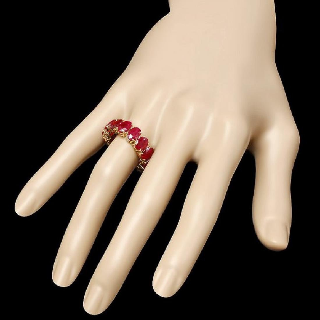 14k Yellow Gold 11.40ct Ruby Ring - 3