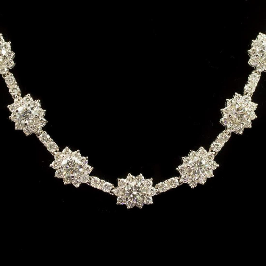18K Gold 18.22ct Diamond Necklace